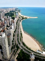 Lake Shore Drive image from the air