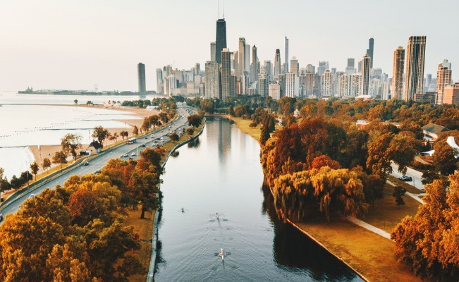 Lake Shore during the fall