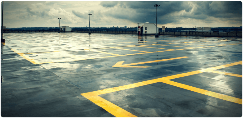 parking lot power sweeping and pressure washing in Chicago