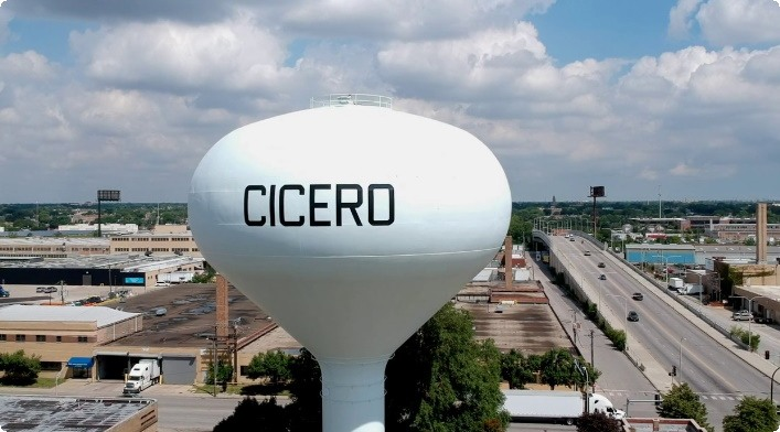 Image from the air of Cicero IL