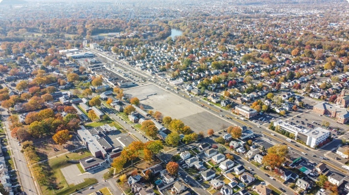 Image from the air of Elmwood Park IL